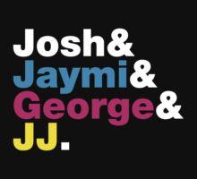 Josh & Jaymi & George & JJ (colour & white) by Tom Clancy