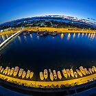 Zadar from th top - fish eye by Ivan Coric