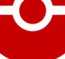 Subtle pokeball pokemon logo red - pokemon trainer Sticker