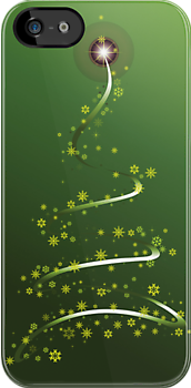 iPhone Case Christmas Tree by imagetj