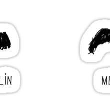 Famous Moustaches Sticker