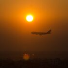 Sun and aeroplane by arjurahman
