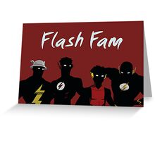 The Flashfam in Young Justice Greeting Card