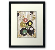 Woodgrain Green Framed Print