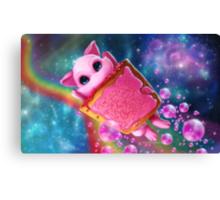 Rainbow Pop Tart Space Mew Canvas Print