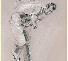 Ben Hilfenhaus - Australia Cricket by Paulette Farrell