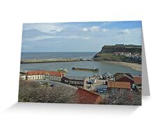 Whitby Lower Harbour  Greeting Card