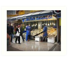 Fish market in Ankara Art Print