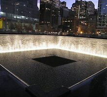 9/11 Memorial, Pool and Waterfall, Ground Zero, Lower Manhattan, New York City by lenspiro
