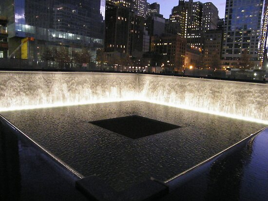 9 11 memorial pool and waterfall ground zero lower - Ground zero pools ...