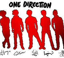 One Direction Silhouettes and Signatures by meow-or-never10