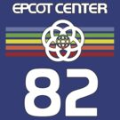 Retro Faded Color Epcot With White Symbol by AngrySaint