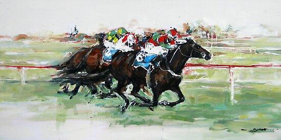 Australian Racehorse, Proper Madam by Nina Smart