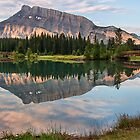 Rundle Mountain Reflection by James Wheeler