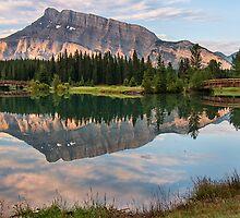 Rundle Mountain Reflection by James Wheeler