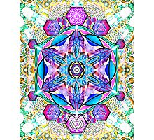 Om-Adjna 'dubstep' mandala Photographic Print