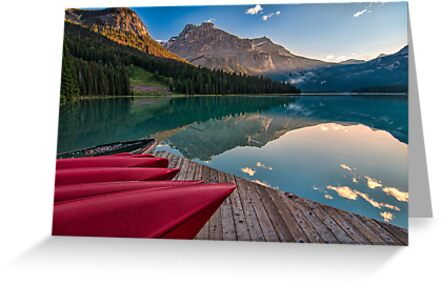 Red Canoe View by James Wheeler