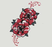 Traditional Rose Tattoo Flash Design by MissCarissaRose