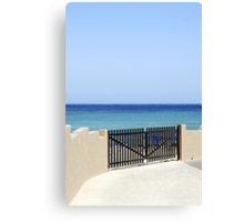 The way to the sea Canvas Print