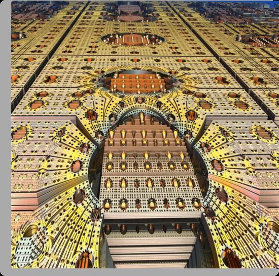 Aliën platform, abstract fractal wallart. by walstraasart