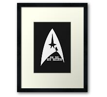 Into Darkness (on dark colours) Framed Print