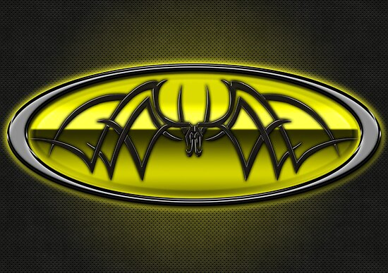Classic Yellow & Black Batman Tribal by joshjen10