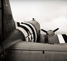 C-47 in monochrome by Steve Churchill