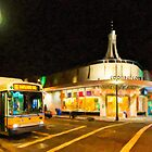 Coolidge Corner - Boston at Night by Mark Tisdale