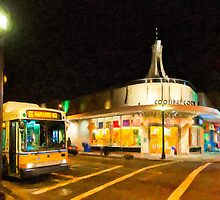 Coolidge Corner - Boston at Night by Mark Tisdale