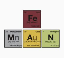 iron man - Periodic Elements Scramble! Kids Clothes