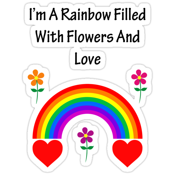 A Rainbow Filled With Flowers And Love by nyancat