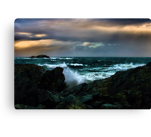 Touch Of Colour A Stormy Day Canvas Print