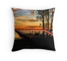 Jetty Sunset  Throw Pillow