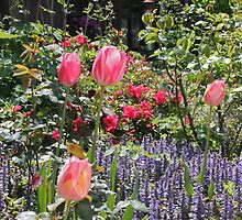 Tulips and Ajuga by Greta van der Rol