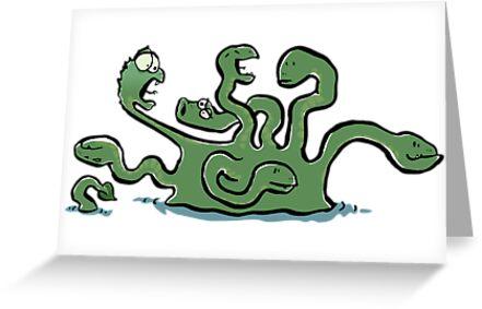 Hydra is bored by greendeer