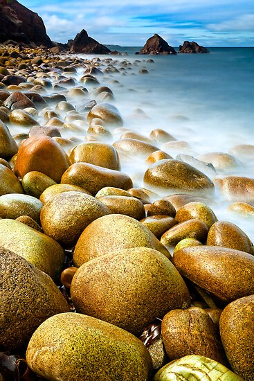 Sunlit Pebbles by Derek Smyth