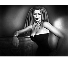 Lust In Black And White Goth Pinup Photographic Print