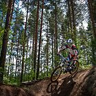 Biker on Trail by Ari Salmela