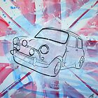 British Mini 2012 Painting by Richard Yeomans