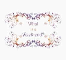 What is a Week-end? or is it Weekend?  by frogcreek