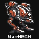 WarMECH Final Fantasy 1 NES TeeShirt for BLACK by kalitarios