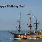 Card - Bark Endeavour, Whitby  by Rod Johnson