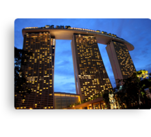 Marina Bay Sands Hotel, Singapore, at Sunset Canvas Print