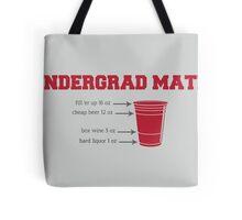 Undergrad Math Tote Bag