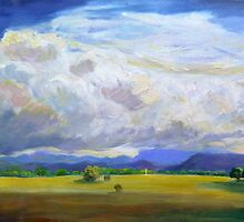 Approaching Storm over Carrara Flood Plains  by Virginia McGowan