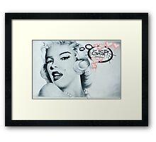 Marilyn Monroe Street Art Framed Print