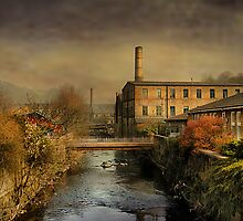 Another Bridge at Hebden by Irene  Burdell