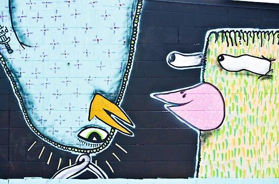 Two weird Graffiti Birds by yurix