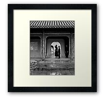 I swear the Coke machine was right here last time ... Framed Print