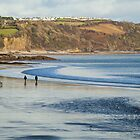 A walk on Saundersfoot Beach by Simon West